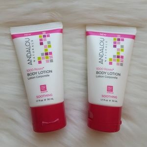 2x Andalou Naturals 1000 Roses Body Lotion Travel